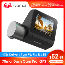 Xiaomi 70mai داش كاميرا برو ، جهاز تسجيل فيديو رقمي للسيارات 1944 P سوبر واضح ، اختياري وحدة GPS ل عدس ، شاشة للمساعدة في ركن السيارة بسهولة ، 140 فوف ، للرؤية الليلية