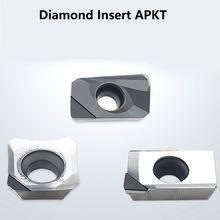 Алмазный фрезерный резец apkt1604 вставка apmt apkt 1135 pcd