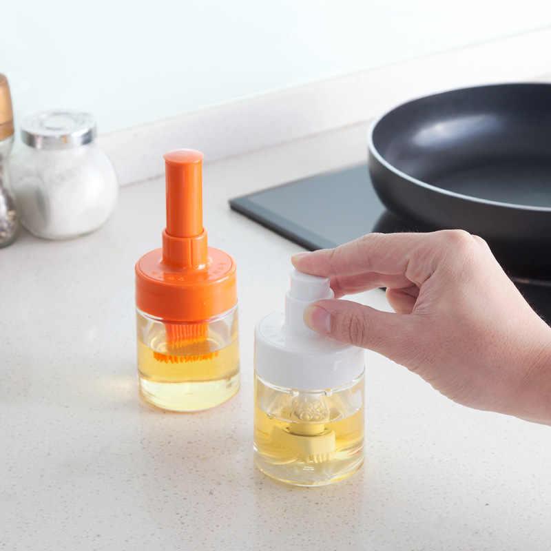 Bottiglia di olio silicone con bottiglia morbida Pennello per condimenti resistente al calore e pennello per barbecue pasticceria da forno che cucina Gadget