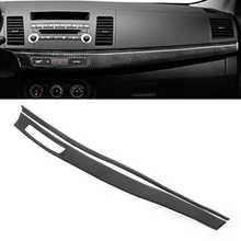 2Pcs Dashboard Abdeckung Zentrale Instrument Panel Trim Carbon Faser Fit für Mitsubishi Lancer 2008 2009 2010 2011 2012-2016 LHD