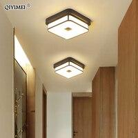 Lustres de led moderno para corredor varanda corredor entrada em casa quadrado redondo simples lâmpada interior luminárias luminaria Lustres     -