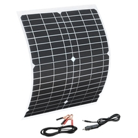 유연한 태양 전지 패널 20 w 패널 태양 전지 셀 모듈 dc 자동차 요트 빛 rv 12 v 배터리 보트 5 v 야외 충전기