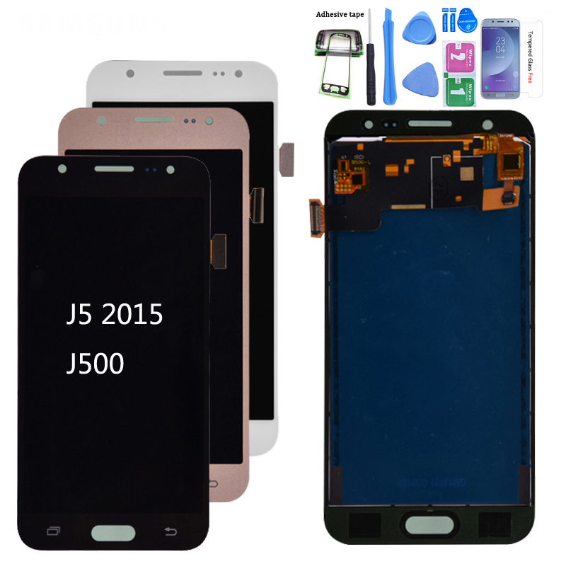 <font><b>J500</b></font> lcd For Samsung GALAXY <font><b>J5</b></font> J500F J500FN J500M J500H 2015 LCD <font><b>Display</b></font> With Touch Screen Digitizer Assembly Adjust Brightness image