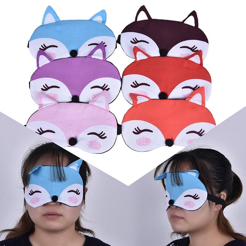 1PCS Sleep Eye Mask Eyeshade Cotton Fox Eyepatch Sleeping Mask Cute Eye Cover Travel Rest Eye Band Sleeping Aid Eye Blindfolds