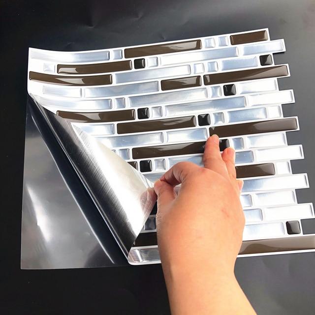 3D Mosaic Self Adhesive Tile Backsplash Wall Sticker Vinyl  Decal Bathroom Kitchen Home Decor DIY 5
