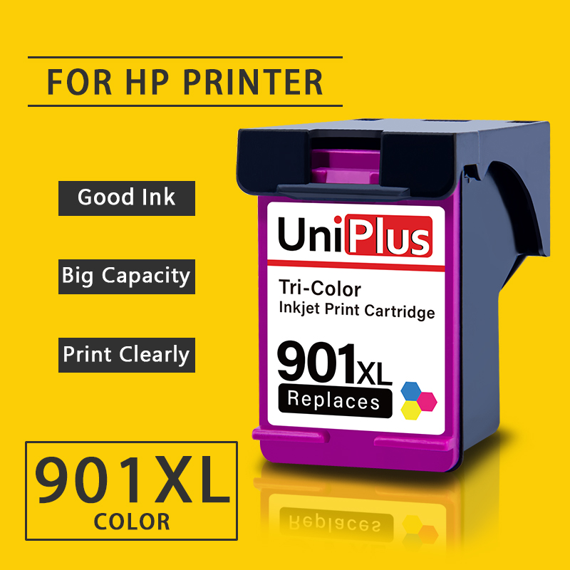 UniPlus Colorful Ink Cartridge 901XL Replacement for HP 901 XL hp901 for HP Printer Officejet J4624 J4660 J4680 J4680c J4860|Ink Cartridges| |  - title=