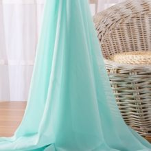 Sag Chiffon Fabric By The Meter for Dress Skirt Clothing Lining Georgette Brocade Tulle Mesh Fabrics Sewing Black White Blue Diy