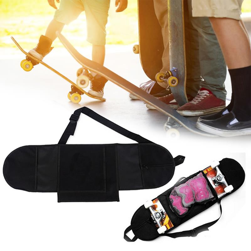 Practical Non Woven Fabric Black Skate Bag Adult Skateboard Longboard Carrying Backpack Carry Bag Skateboard Backpack Portable