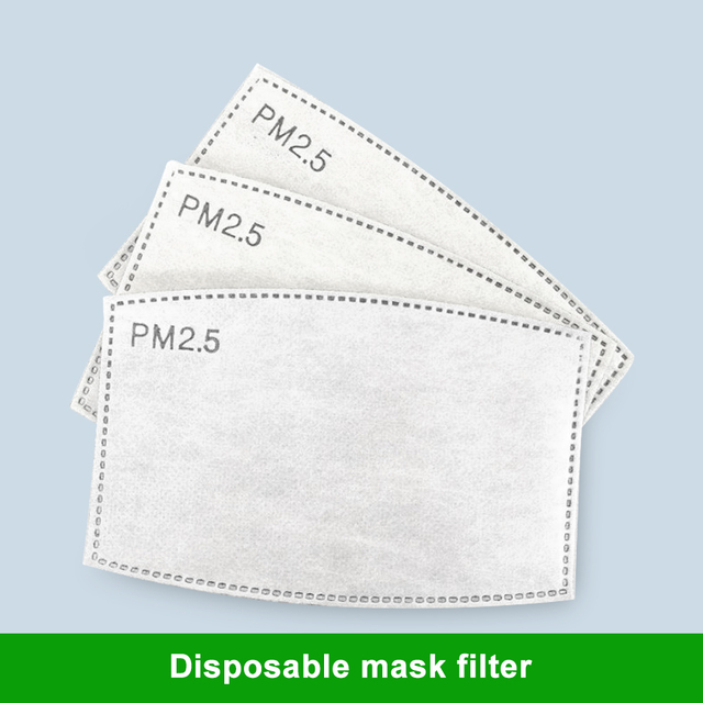 100 PCS 5 Layers PM2.5 Activated Carbon Filter Insert Protective Filter Media Insert for mouth Mask anti dust masks filter