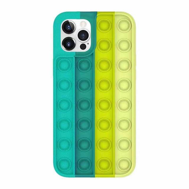 Pop Fidget Bubble Silicone Phone Case For iPhone - for iphone 12pro, 1699-E-1