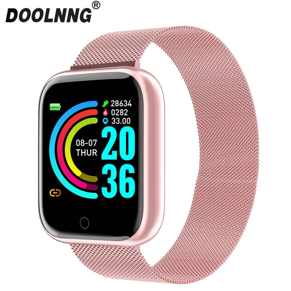 Reloj inteligente deportivo para hombre y mujer, dispositivo resistente al agua con control del ritmo cardíaco y de la presión sanguínea y del sueño, 2020