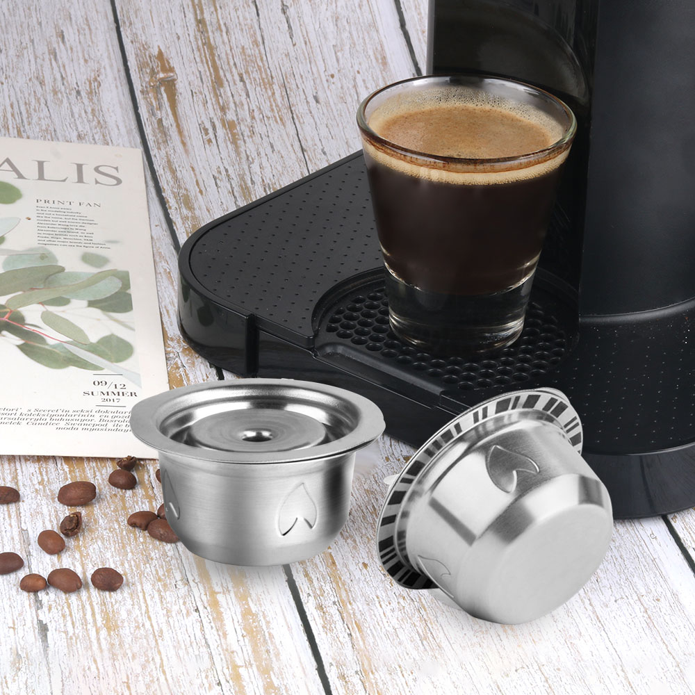 Capsule de café Vertuo réutilisable en acier inoxydable (G4) pour Machine à café Nespresso VertuoLine Plus & Delonghi ENV 155