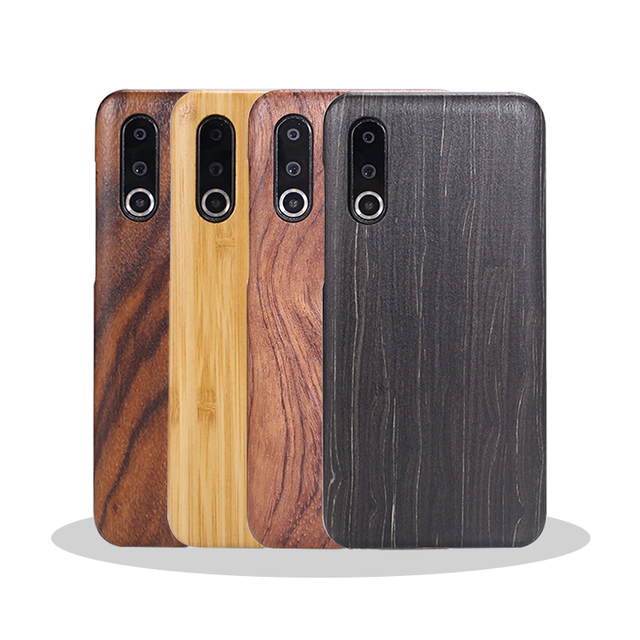 For Meizu 16s /16XS walnut Enony Wood Rosewood MAHOGANY Wooden Slim Back Case Cover