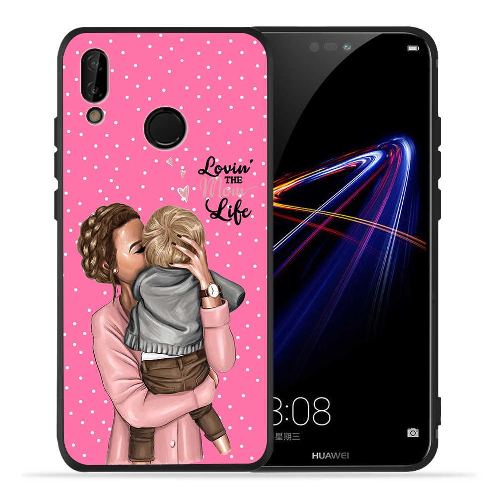 DIY Super Mama เด็กเมาส์สาว Boy โทรศัพท์ที่กำหนดเองสำหรับ Huawei P20 Pro กรณี P30 Pro P9 Mate 20 lite Honor 8X9 10 20 ETUI