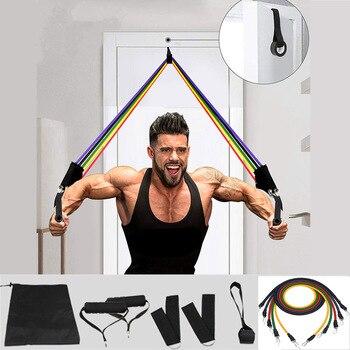 11 stks elastische weerstandsbanden sets training rubberen elastische band voor fitness sport gym oefeningsapparatuur training trekkoord