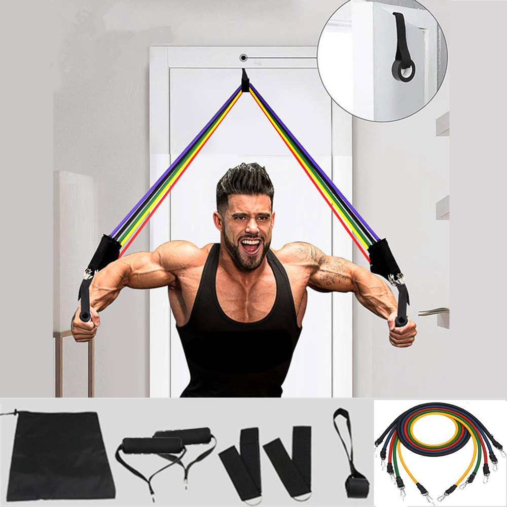 Эластичная резиновая лента для фитнеса и спортзала, 11 шт.-0