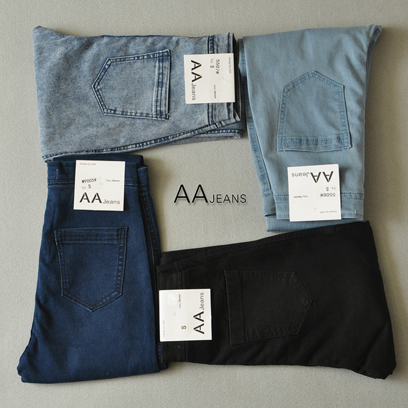 High Waist Jeans Pants For Women Skinny Black Super Denim Jeggings Jeans Ladies Zipper Fly High Quality Pencil Pockets 0093