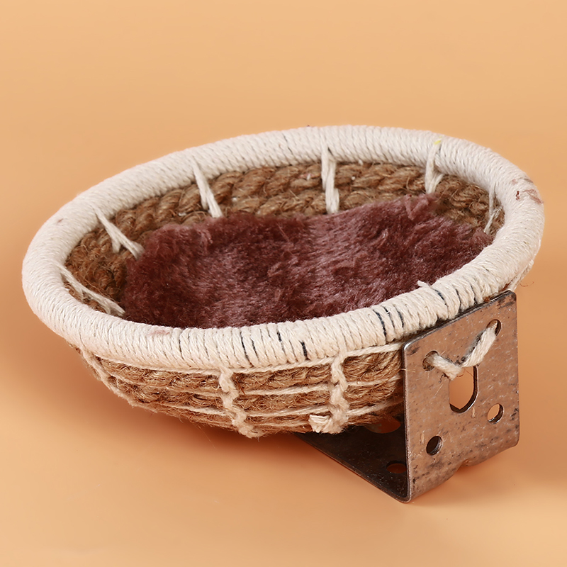 Creative Hand Knitting Bird Nest Breeding Knitting Cotton Rope Home Weave Canary Finch Budgie Decor Bird Stand Parrot Supplies