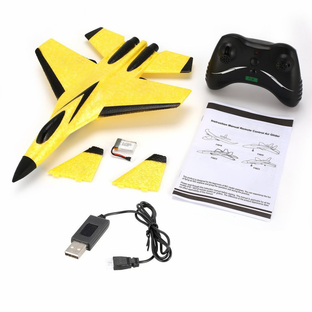 2.4G Glider RC drone SU35 Fixed wing airplane Hand Throwing foam dron Electric Remote Control Outdoor RC Plane toys for boys F22 5