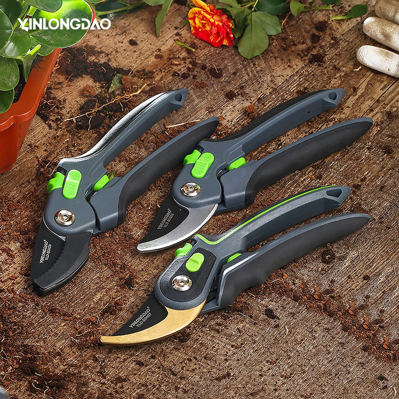 Garden steel pruning shears home fruit tree potted greening durable labor-saving tools orchard home gardening pruning 1