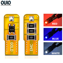 цена на 2PCS LED W5W T10 Clearance Lights 194 168 COB 3030SMD Led Parking Bulb Auto Wedge Lamp Bright White Blue Red License Car Light