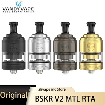 Vandy Vape Berserker V2 MTL RTA Tank 3ml bottom airflow e Cigarette Atomizer 24mm rebuildable tank atomizer VS BSKR MTL RTA