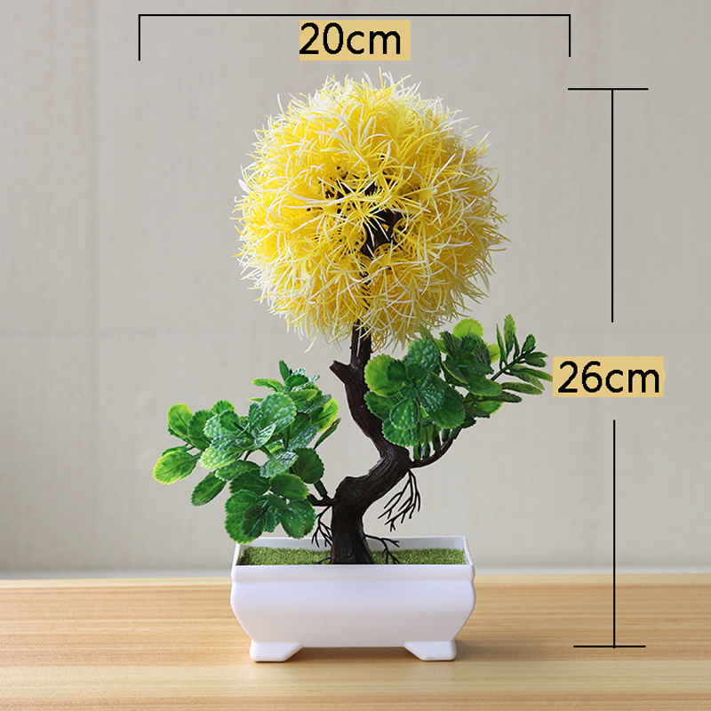 Artificial Bonsai Fake Green Pot Plants for Home Decor Craft H38236ab809144e618694393e986ec3eey artificial bonsai