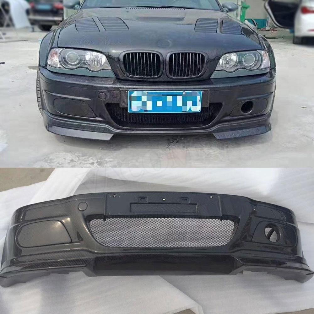 Переднее крыло бампера из углеродного волокна для BMW 3 серии E46 M3 передний бампер для стайлинга автомобиля