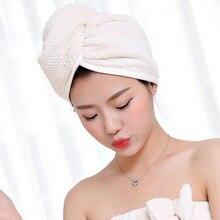 Тюрбан микрофибра ткань утолщение сухих волос полотенце супер абсорбент быстросохнущие волосы душ Шапочка-полотенце для душа ванная комната