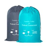 Strahl Schmutzige Kleidung Wäsche Tasche Kordelzug Organizer Reise Haushalt Polyester Große Kapazität Kleidung Pflege Waschen Tasche