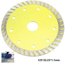 Disque froid de coupe de lame de scie de diamant de Turbo de 5 pouces 125mm pour la meuleuse d'angle pour couper le disque de coupe de diamant de tuile de marbre de céramique