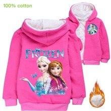 Coat Girl Frozen Children Clothing Outerwear Winter Fashion Princess Disney Cartoon Elsa