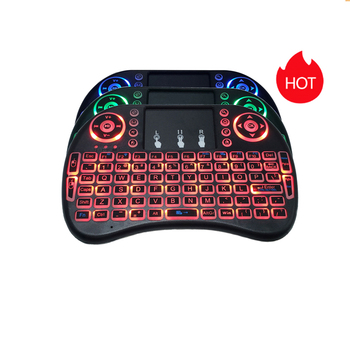 ACEPC I8 Mini Keyboard 2.4GHz Wireless Keyboard Air Mouse Touchpad For Android TV BOX Mini PC Backlight Russian English Keyboard original rii i12 2 4g wireless mini english russian keyboard with multi function touchpad for pc laptop android tv box