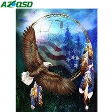 AZQSD Diamond Painting Eagle Full Square Drill Embroidery Animal Home Decor Picture Of Rhinestones Cross Stitch Kits Handmade