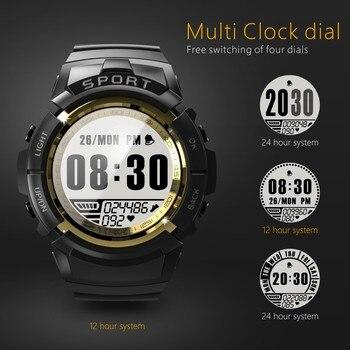S816 Men Women Smart Watch IP68 Waterproof Fitness Tracker Smartwatch Dynamic Heart Rate Compass Stopwatch Alarm Clock