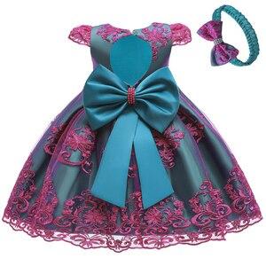 Image 5 - Cute Baby Wedding Party mała druhna haft suknia bankietowa pierwsza eucharystia na urodziny bankiet pierwszej rocznicy dziecka