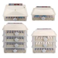 56/98/150/196 Eggs Automatic Egg Incubator LCD Digital Farm Hatchery Machine for Farm Chicken Quail Brooder Egg Incubator