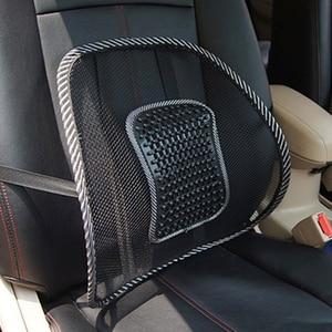 Image 3 - Siège de voiture chaise de bureau Massage dos soutien lombaire maille ventiler coussin coussin noir maille dos lombaire coussin pour conducteur de voiture