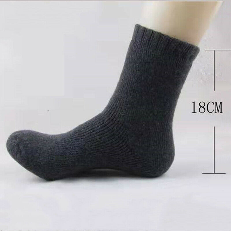 Men Thick Heavy Duty Wool Blend Work Hiking Boot Socks Winter Warm Thermal image