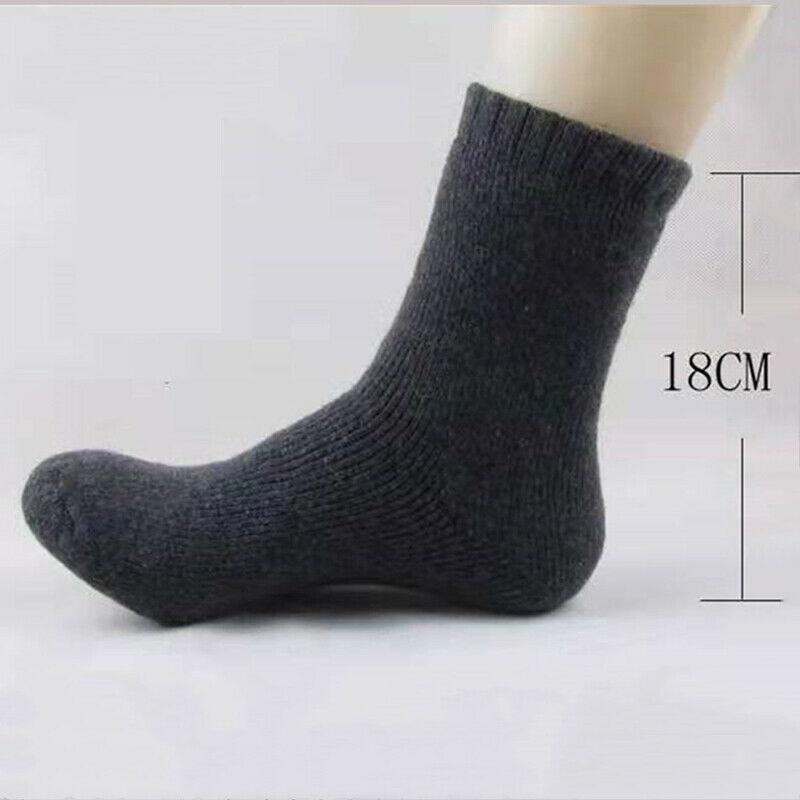 Men Thick Heavy Duty Wool Blend Work Hiking Boot Socks Winter Warm Thermal
