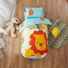 Комплект постельного белья из 3 предметов для детей, Детский пододеяльник из чистого хлопка, набор постельных принадлежностей для детской кроватки, детского сада, одеяло с наволочкой