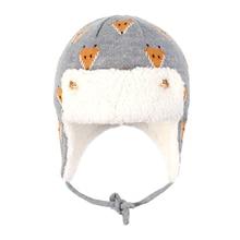 Winter Bomber Hat Boy Girl Knit Beanie Kid Autumn Earflap Animal Dobby Warm Skiing Cotton Fleece Outdoor Accessory Toddler Baby