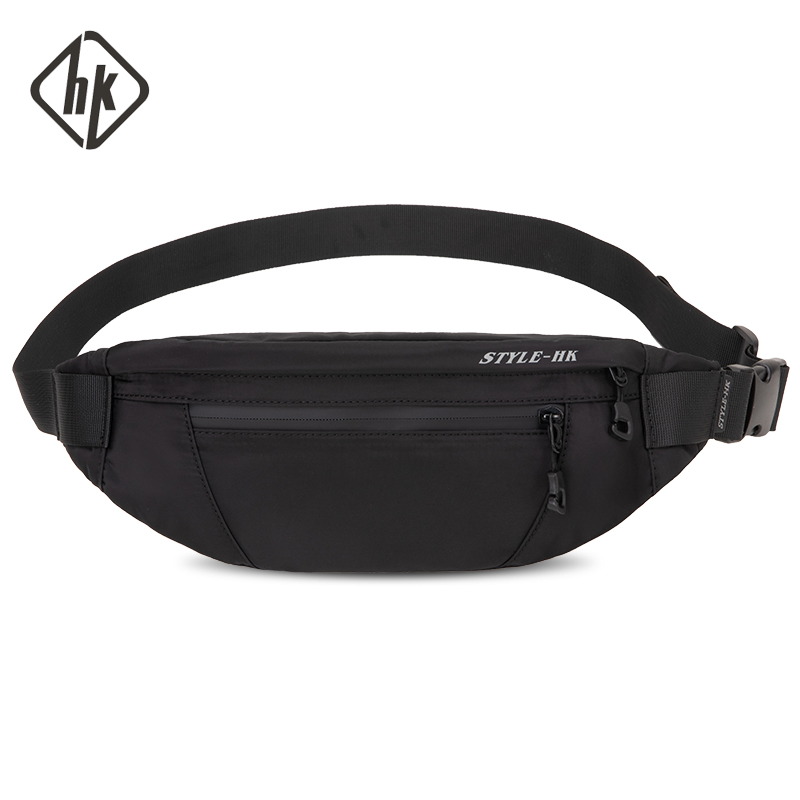 Hk Man Waist Bag New Fashion Fanny Pack Chest Pack Travel Outdoor Sports Crossbody Bag Casual Male Waterproof  Bum Belt Bag