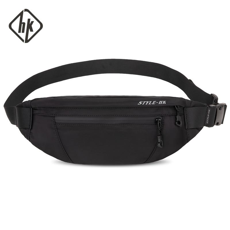 Hk Man Waist Bag New Fashion Fanny Pack Chest Pack Travel Outdoor Sports Crossbody Bag Casual Male Waterproof  Bum Belt Bag