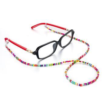 Moda geometryczny zroszony łańcuszek do okularów uniwersalny antypoślizgowy pasek mocujący sznur do okularów
