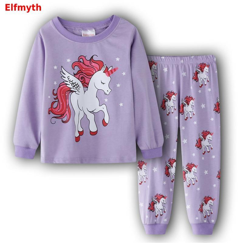 2019 Unicorn Pijama Unicornio Koszula Nocna Girls Nightgown Christmas Pijamas De Animales Pyjamas Kids Pajama Set Stitch Clothes