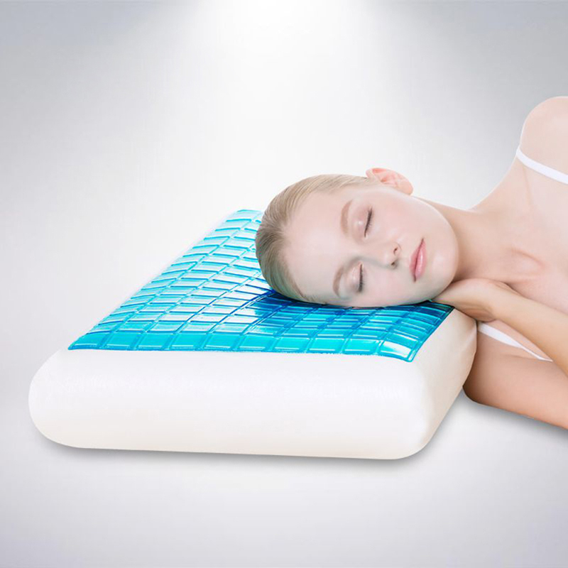 PurenLatex 604012 Silicone Gel Memory Foam Summer Cool Pillow Spondylosis and Eczema Prevented For Cervical Vertebra Healing (1)