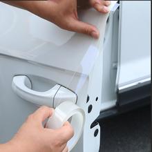 Mercedes Benz için W176 W117 W212 W204 C63 CLA GLA A45 AMG araba aksesuarları kapı kenarı Nano bant çizilmeye dayanıklı tampon koruyucu