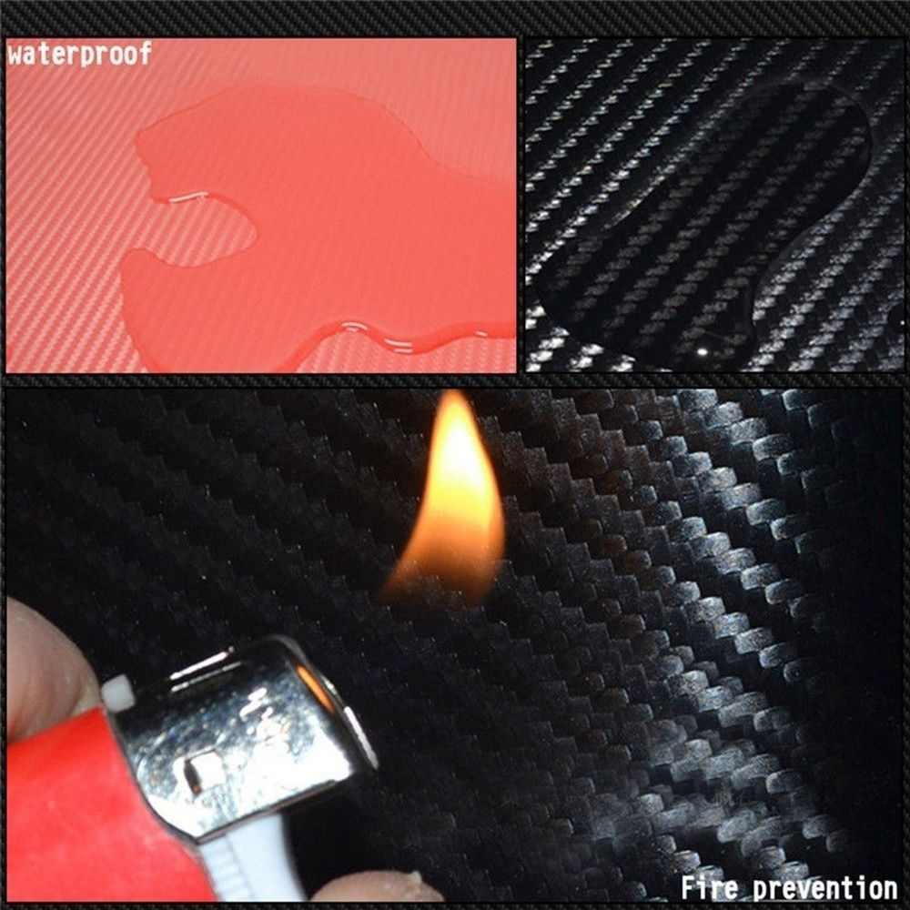 العالمي الأسود حامي عتبة جرجر غطاء باب السيارة لوحة ملصق ثلاثية الأبعاد ألياف الكربون المضادة للخدش