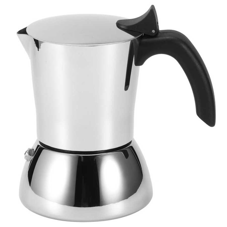 304 нержавеющая сталь Кофеварка Mocha Pot плита фильтр Moka Кофеварка кофейник для кухни 4 Peopele поставка